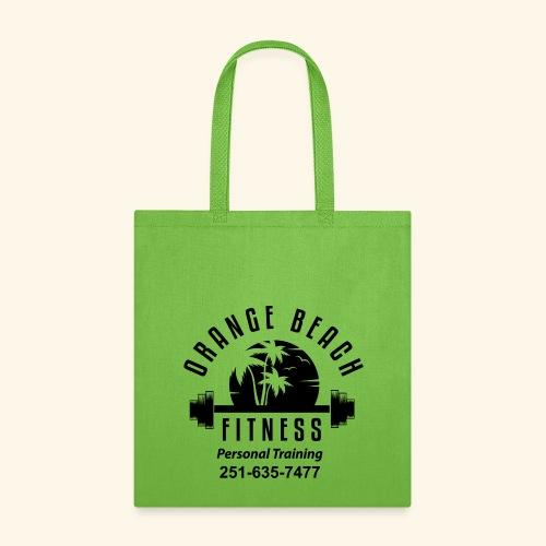 Orange Beach Fitness Black Logo - Tote Bag