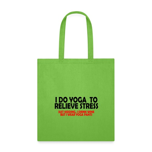 01 yoga to relieve stress copy - Tote Bag