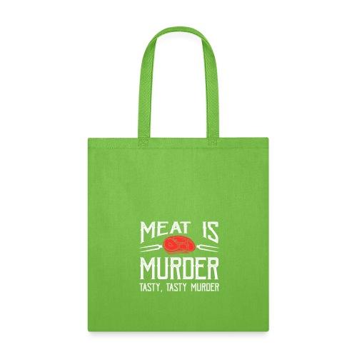 meat is murder vegan t shirt - Tote Bag