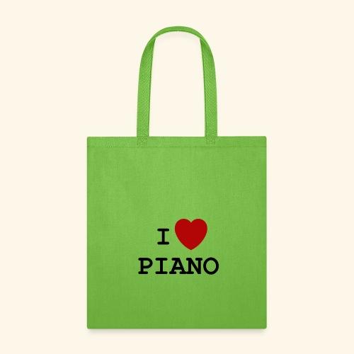 I love piano - Tote Bag