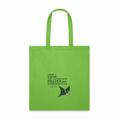 Prayer and Pterodactyls Green - Tote Bag