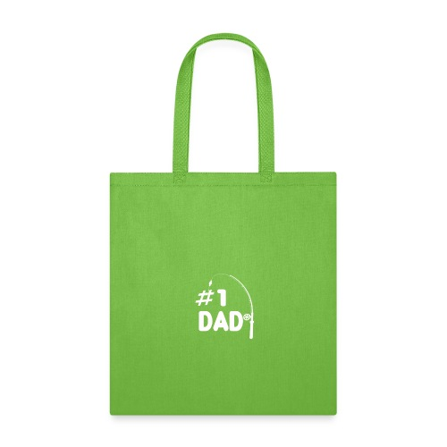 Fisherman #1 Dad Fishing Daddy Fathers Day Shirt - Tote Bag