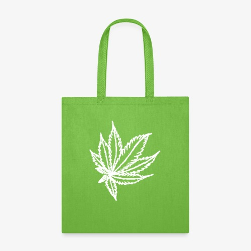 white leaf w/myceliaX.com logo - Tote Bag