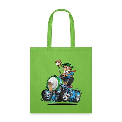 Hot Rod Electric Car Cartoon - Tote Bag