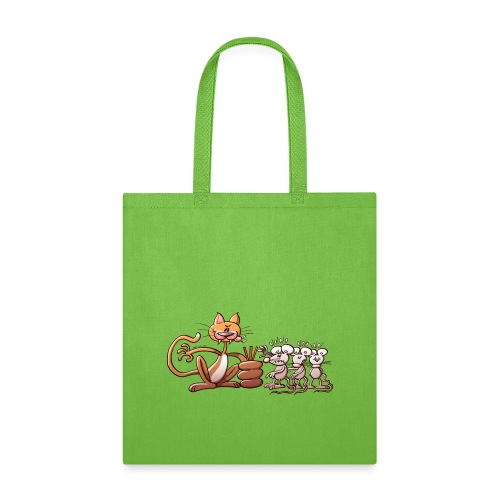 Cat Choosing a Mouse by Drawing the Short Straw - Tote Bag