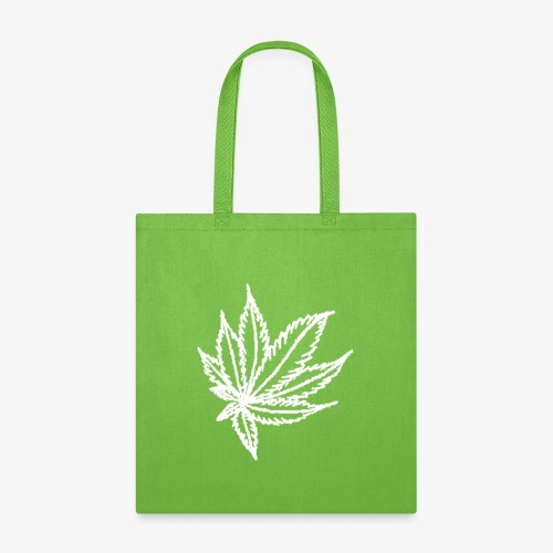 white leaf - Tote Bag