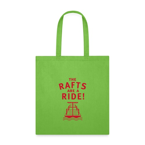 Traveling With The Mouse: Rafts Are A Ride (RED) - Tote Bag