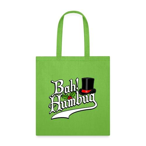 Bah Humbug Christmas Scrooge Funny No Humbuggery - Tote Bag