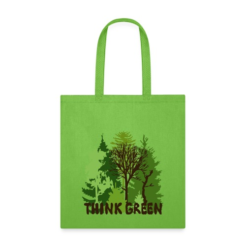 EARTHDAYCONTEST Earth Day Think Green forest trees - Tote Bag