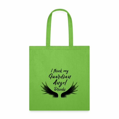 My Guardian Angel Drinks-Black - Tote Bag