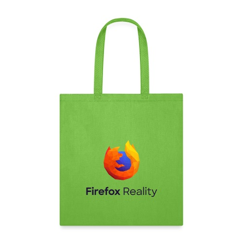 Firefox Reality - Transparent, Vertical, Dark Text - Tote Bag