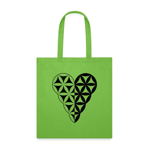 Dual Heart, Male-Female Duality. Vector image. - Tote Bag