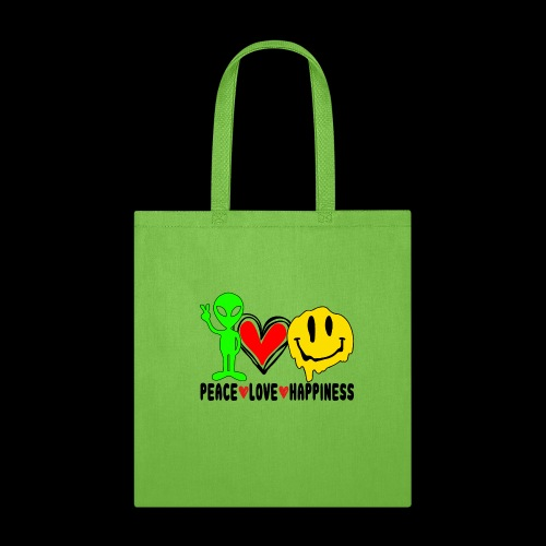 Peace Love Happpiness - Tote Bag