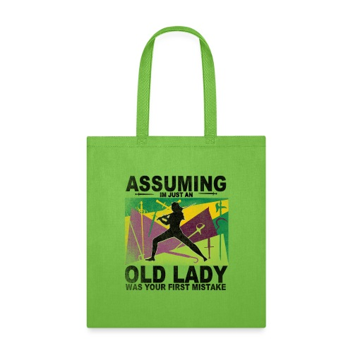 Your first mistake purple and green - Tote Bag