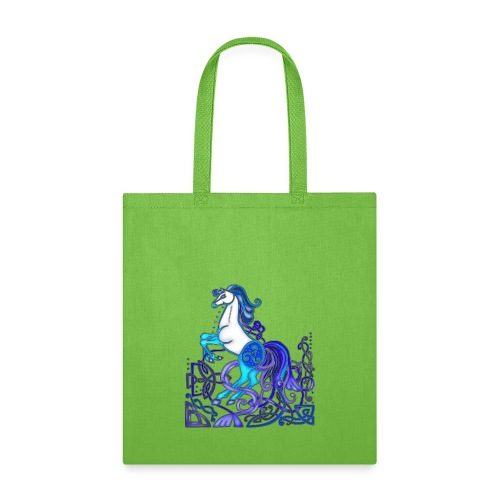 Celtic Horse Silver Blue - Tote Bag