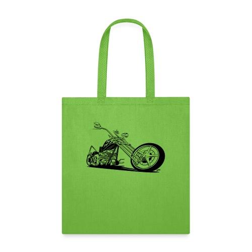 Custom American Chopper Motorcycle - Tote Bag