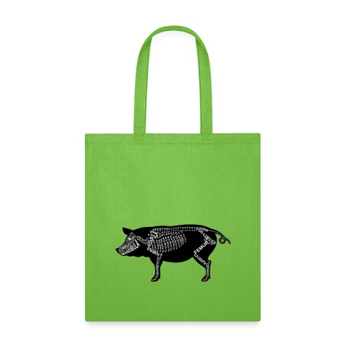 Skeleton Pig - Tote Bag