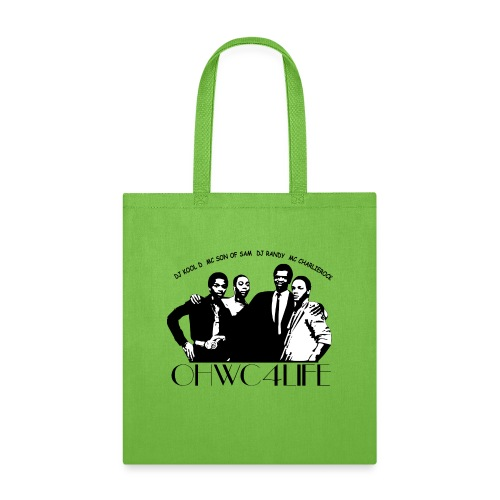 ohwc text silhouette blk & wh with crew names - Tote Bag