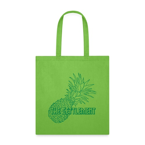 Pineapple with Band Name | The Settlement - Tote Bag