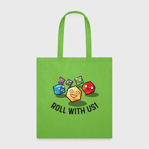 roll with us fantasy dice gamer gift - Tote Bag