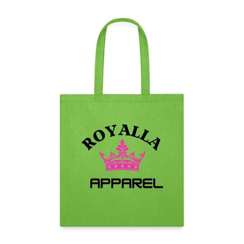 Royalla Apparel Black with Pink Logo - Tote Bag