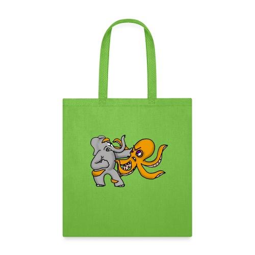 Elephant vs. Octopus Mug - Tote Bag