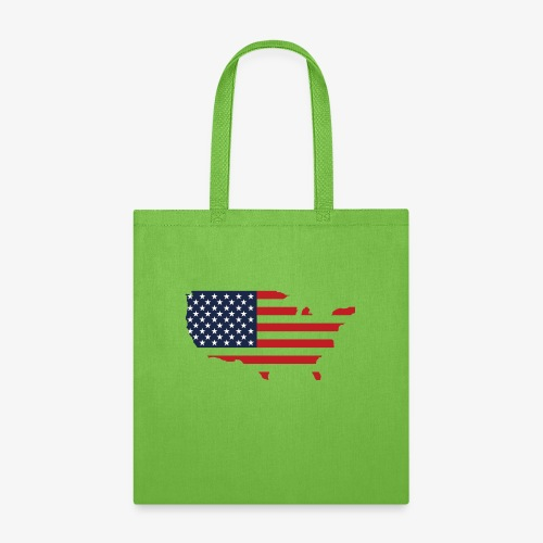 USA flag map red, white & blue - Tote Bag