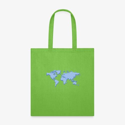 Blue Earth Map - Tote Bag