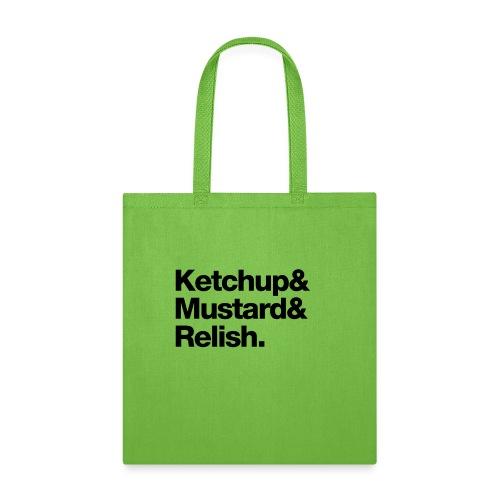 Condiments - Ketchup Mustard Relish - Tote Bag