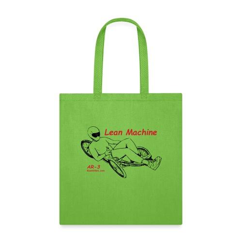 The Lean Machine AR-3 Black & Red - Tote Bag