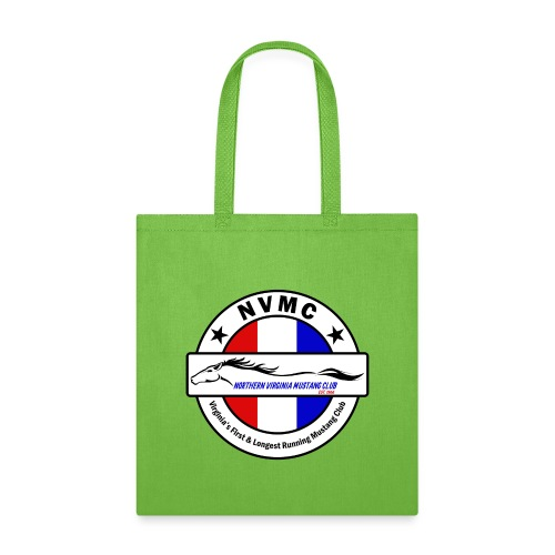 Circle logo on white with black border - Tote Bag