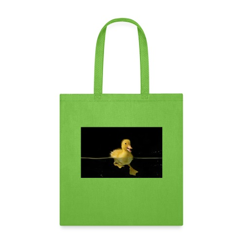 Lonely duckling water black background 1920x1200 - Tote Bag
