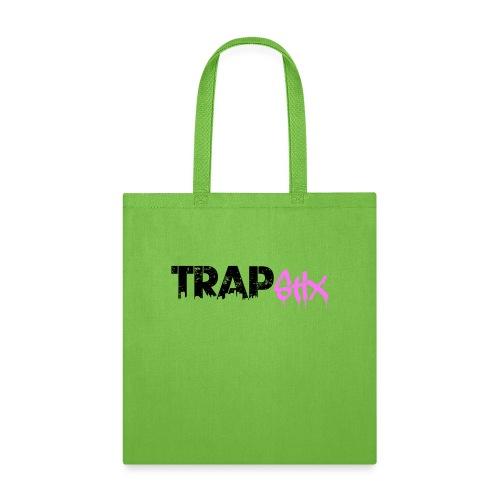TRAPSTIX LOGO (Black x Pink) - Tote Bag