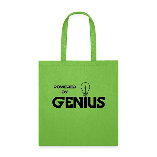 Powered by Genius black - Tote Bag