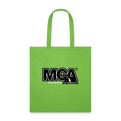 MCA Logo WBG Transparent BLACK TITLEfw fw png - Tote Bag