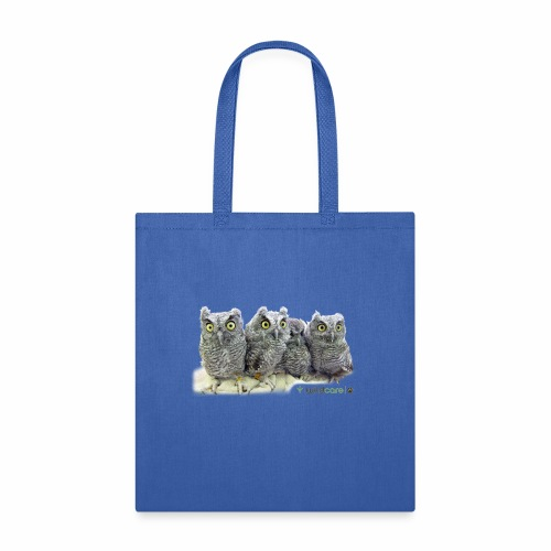Five Western Screech Owls at WildCare - Tote Bag