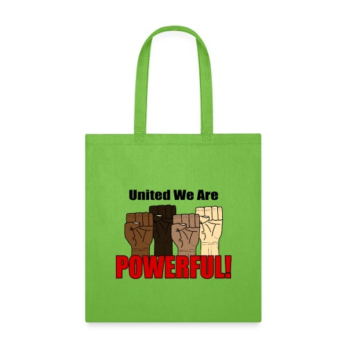 United We Are Powerful With Four Raised Fists V1 - Tote Bag