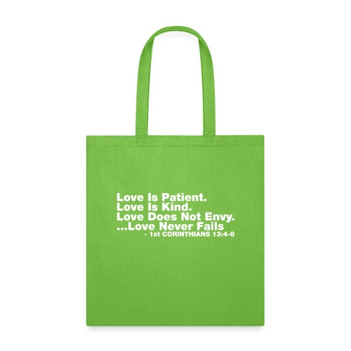 Love Bible Verse - Tote Bag