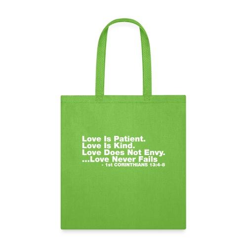 Love Bible Verse - Tote Bag