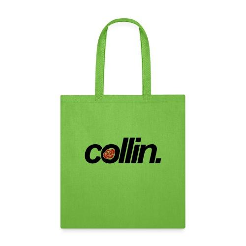 Collin. (Black w/ Rose) - Tote Bag