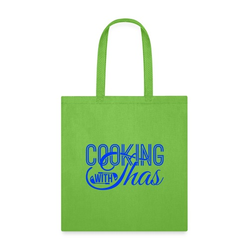 Cooking with Thas blue logo wear - Tote Bag