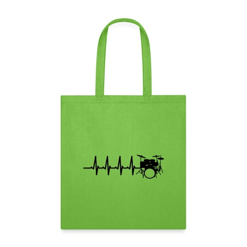 Drums Heartbeat Funny drummer - Tote Bag