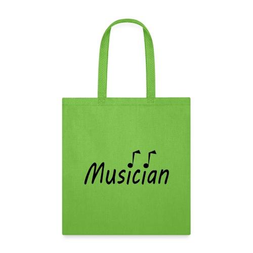 musician black - Tote Bag