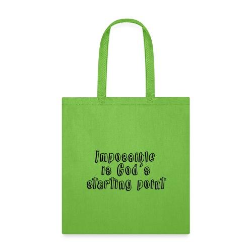 God's starting point - Tote Bag
