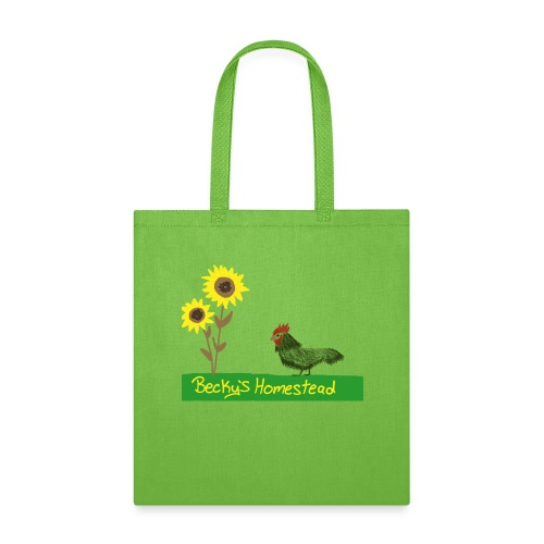 Chicken and Sunflowers - Tote Bag