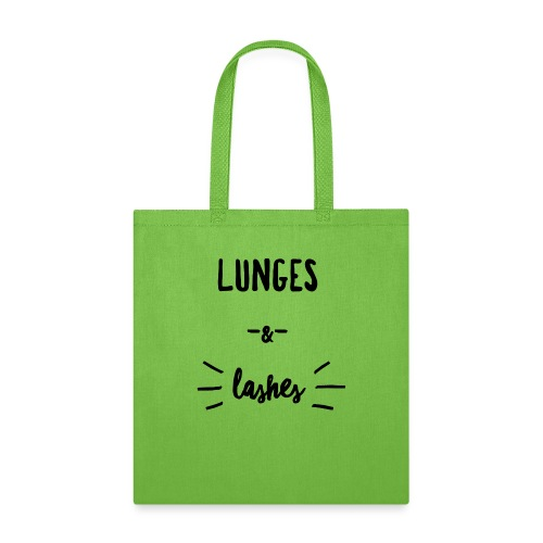 Lunges & Lashes - Tote Bag
