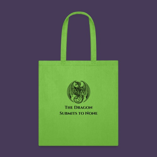 The dragon submits to none black - Tote Bag