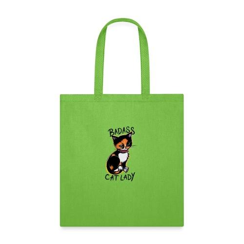 Badass cat lady - Tote Bag