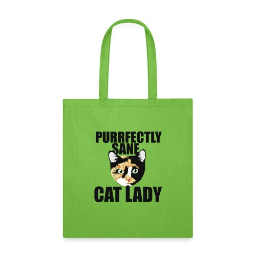 Purrfectly sane cat lady - Tote Bag
