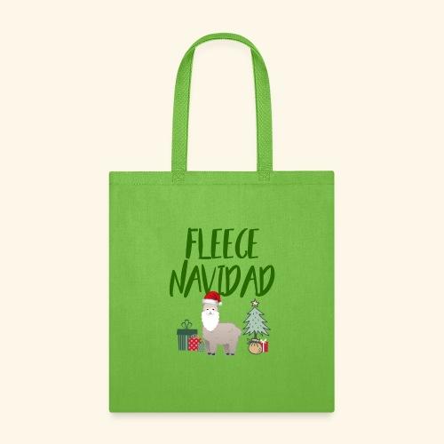 FLEECE Navidad Christmas lama Tee - Tote Bag